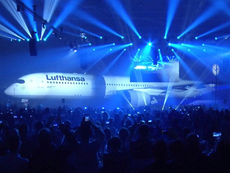 Lufthansa A 350 Launch