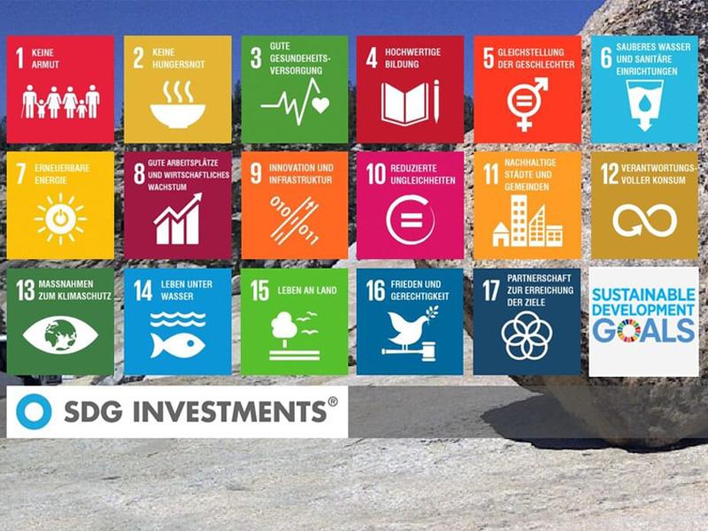 Portalentwicklung für SDG INVESTMENTS